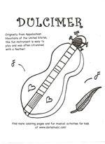 printable dulcimer coloring page pdf