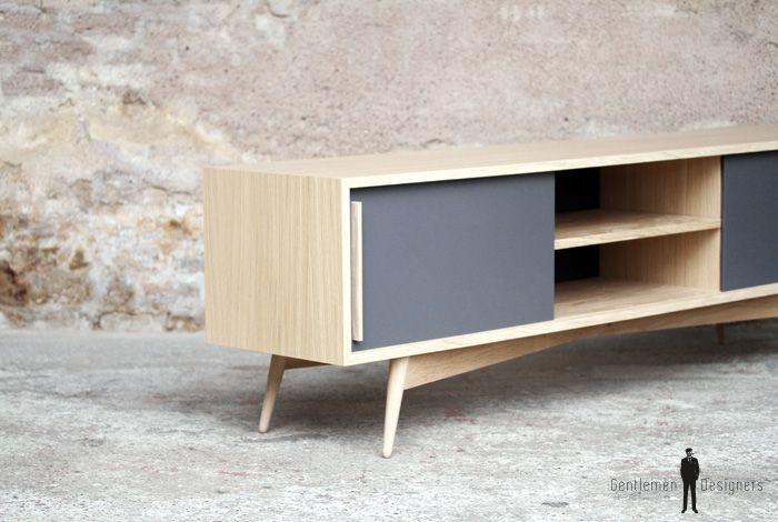 The 25 best meuble tv chene ideas on pinterest meuble for Meuble tv quilda