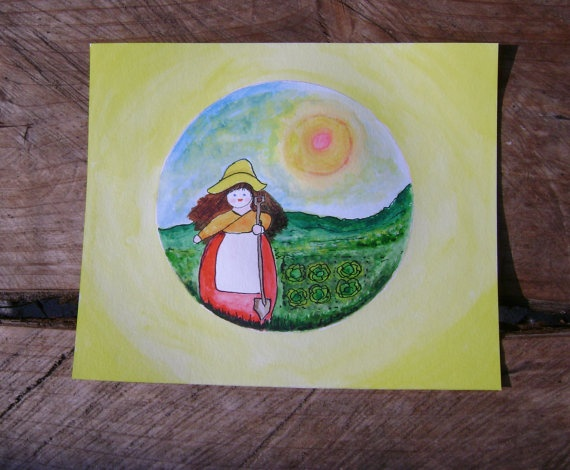An original Waldorf  Inspired painting by softearthart on Etsy, $25.00