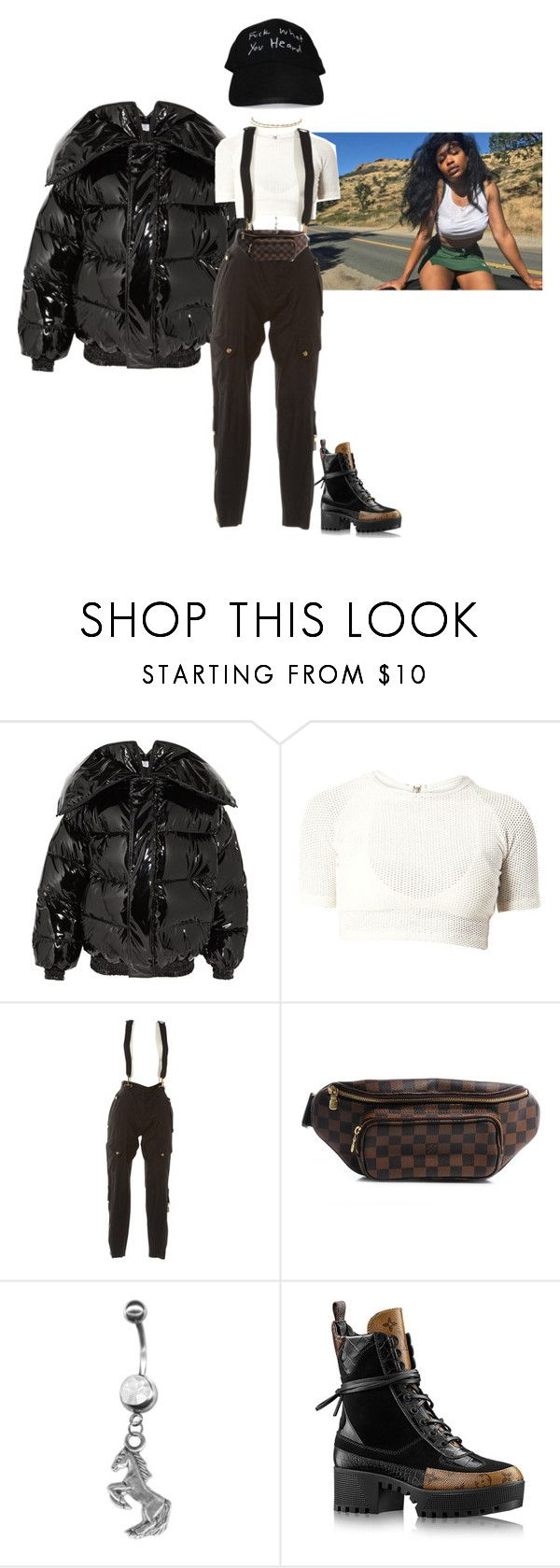 """""""Boy i swear if we keep bumping heads."""" by thaijohnson ❤ liked on Polyvore featuring Vetements, CTRL, Gucci, Louis Vuitton and ASOS"""