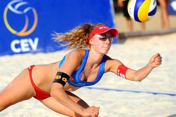 Female Volleyball Player Nina Betschart.