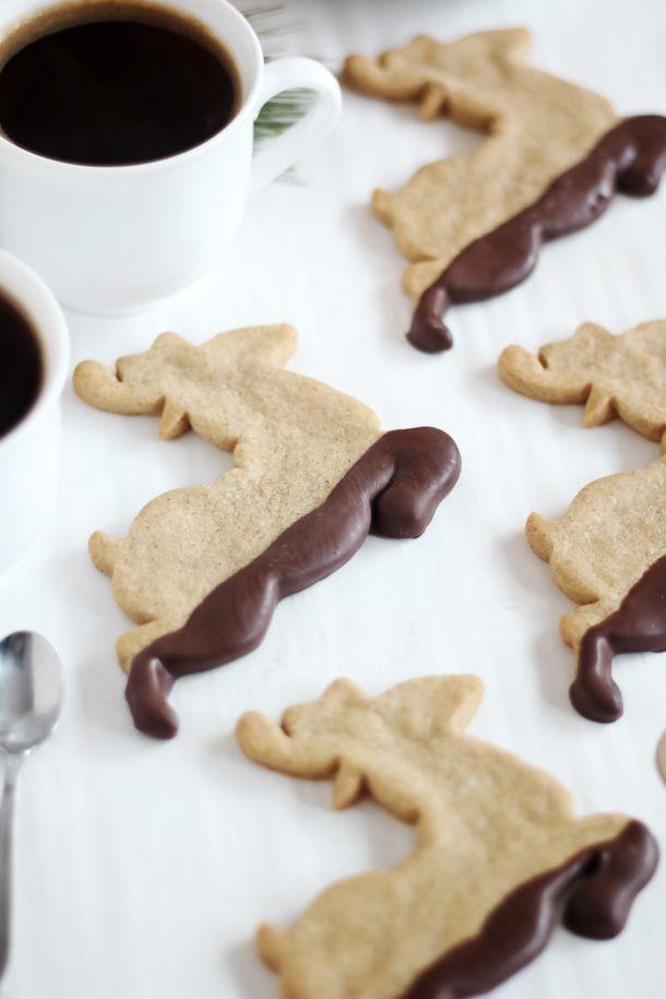 Fangoso reno Galletas (bañadas en chocolate pan de jengibre)