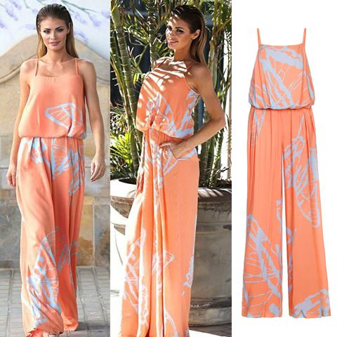 """After Chloe Sims, a lovely actress from the popular show """"The Only Way Is Essex"""", demonstrated on Tenerife resort Isabel Garcia orange jumpsuit, many fashonistas have tried to find out, where they can buy it too. Now this attire can be o eto! at our official online store. http://bit.ly/1GQMEwD"""