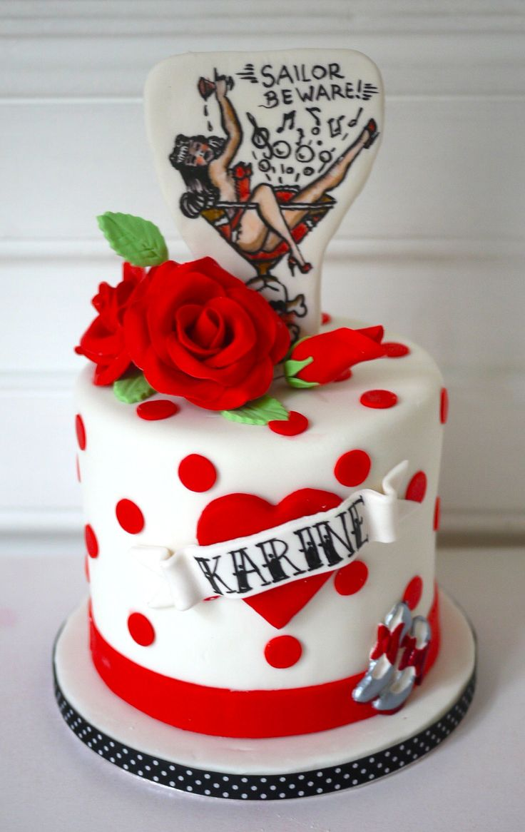 Best Pin Up Cakes Images On Pinterest Pinup Cakes And Pin Up - Rockabilly birthday cake