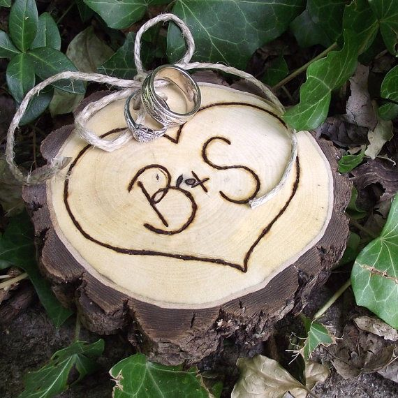 Personalized Ring Bearer Wood Slice  EcoFriendly by ARemarkYouMade, $22.95