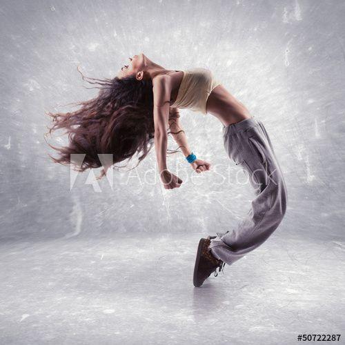 young woman hip hop dancer