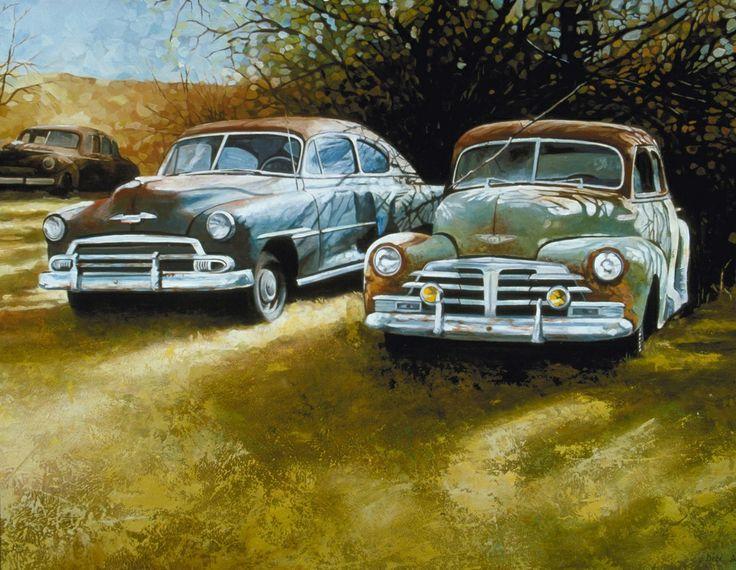 Vintage Car Paintings 19 best images about V...