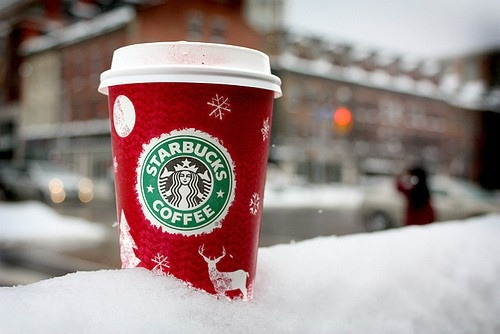 If u NEED Starbucks- a grande skinny peppermint mocha is only 100 calories! Oh and skip the whip :)
