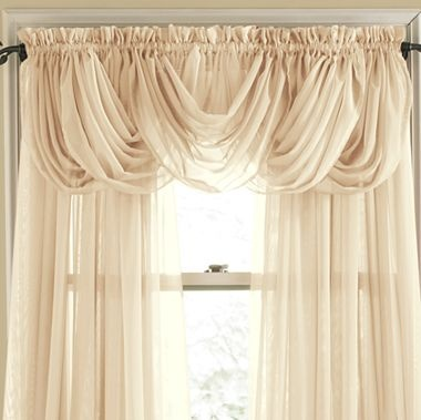 jcp home™ Lisette Rod-Pocket Sheer Toga Valance - jcpenney