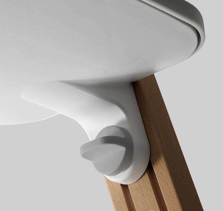 Details we like / Knob / Adjustment / rail / Gray / Wood / Plastic / at Lemanoosh