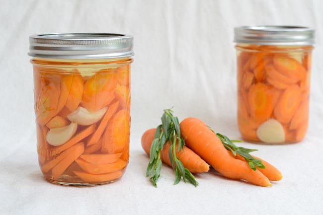 JC's Tarragon Pickled Carrots (refrigerator pickles) (uses white wine vinegar) | Wayward Spark