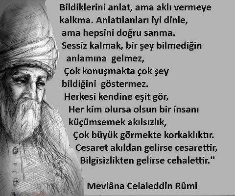 Hz Mevlana Celaleddin Rumi Güzel Sözleri (Resimli)