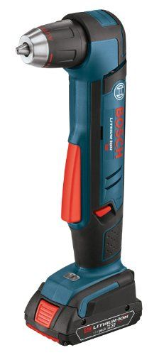 Bosch ADS181-102 18-Volt Lithium-Ion 1/2-Inch Right Angle Drill Kit with High Capacity Battery, Charger and Case #DIY