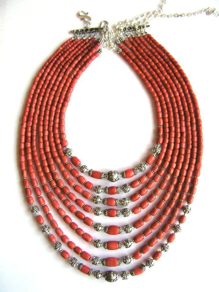 Korali - multi-strand coral necklace, Ukraina