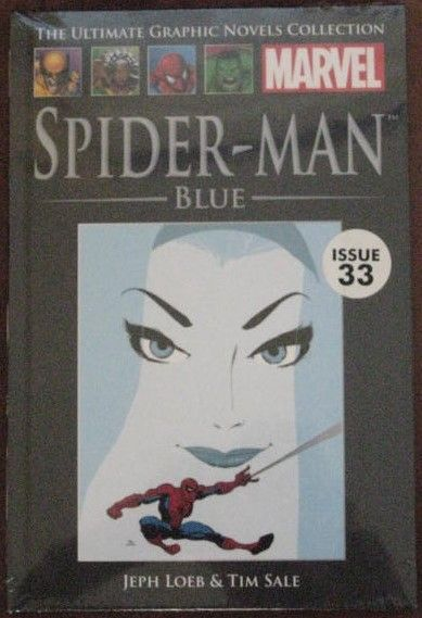 SPIDER-MAN BLUE Graphic Novel Jeph Loeb and Tim Sale. Before Mary Jane there was Gwen Stacy. Peter Parker's first love who tragically died at the hands of the Green Goblin. This is the story of how the two fell in love and how Spider-Man was forced to run a gauntlet of dangerous villains to finally get the girl of his dreams.