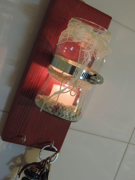 LLAVERO DE PARED DE MADERA CON - Vintage y Reciclado - Casa - 802939
