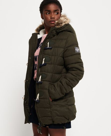 Superdry Tall Marl Toggle Puffle Jacket   Winter coats in 2018 ... 3d1c48713a
