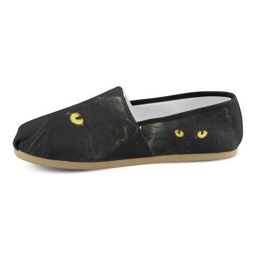 Black Cat Women's Casual Shoes (Model 004)