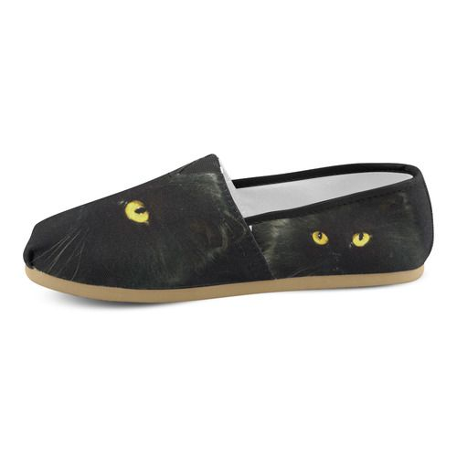 Black Cat Women's Casual Shoes (Model 004)