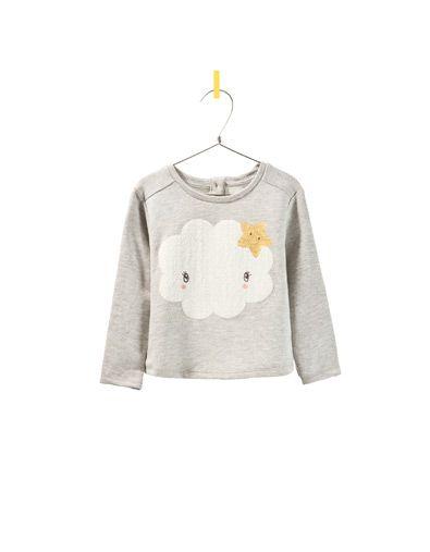 sweatshirt with cloud and stars