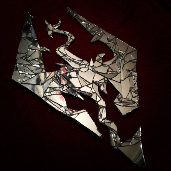 Skyrim glass logo art on Etsy, £16.18 I need to stop posting this stuff all at once but I'm a geek and I couldn't resist this