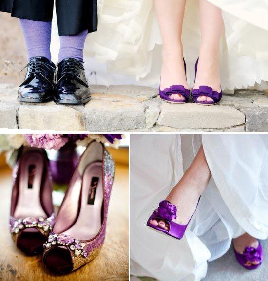 Brautschuhe in lila