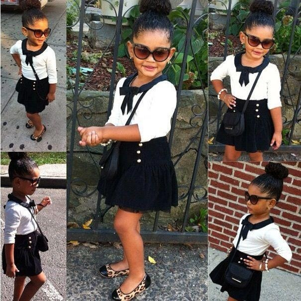 Little Fashionista. OMG THIS LITTLE GIRL IS SO CUTE! This ALMOST makes me wanna have one more girl :/