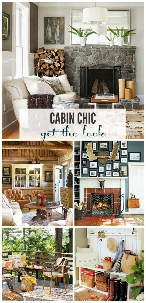 In honor of fall and all of the cozy reasons we love it, I thought I would share a style trend I am into lately-Cabin Chic and ways to get the look.