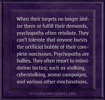 How Narcissists and Psychopaths react when they are no longer idolised.