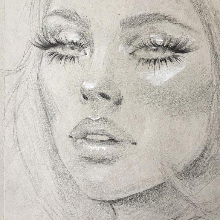 #Sketch #1970s #Spider #lashes #2b #pencil white