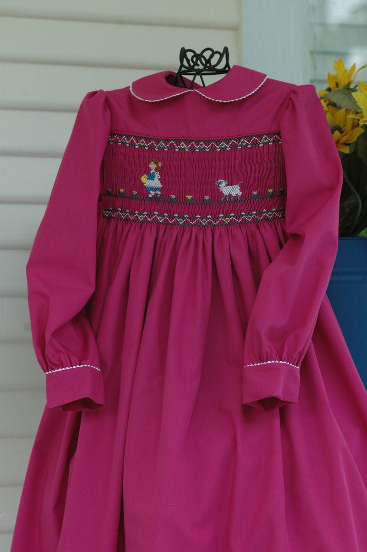 Dress Smocked And Made By Linda Regan Creamer Dress