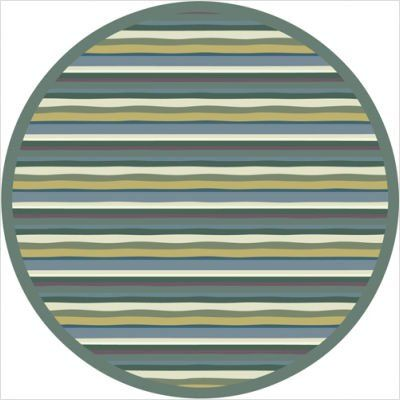 """Joy Carpets Kid Essentials Active Play & Juvenile Round Yipes Stripes Rug, Soft, 7'7"""". Lifetime limited wear warranty; SoftFlex backing eliminates wrinkles and lies flat; Green label plus indoor; Air quality certified; Made in the USA. Machine tufted-Cut pile. Backing: SoftFlex. 100% stainmaster nylon."""