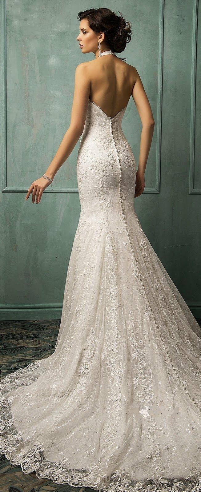 413 best images about wedding gowns bridal jewelry worn for Jewelry for halter wedding dress
