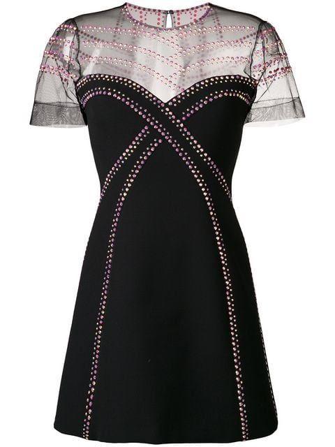 detailed look f325c 4007a Versace Collection Vestito Corto Con Strass | Dress.... nel ...