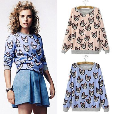 Find More Hoodies & Sweatshirts Information about Brand new 2015 women cartoon hoodies cat print 3d sweatshirt autumn winter Pullover clothes top,High Quality Hoodies & Sweatshirts from large supermarket for U on Aliexpress.com