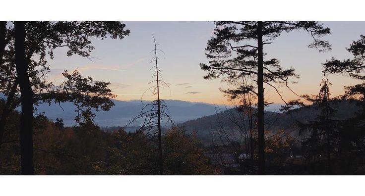 Kowary i Szkolenie Starostów  #kowary #view #mountains #hills #sunset #sky #shadow #trees #forest #vsco #vscocam #shotoniphone
