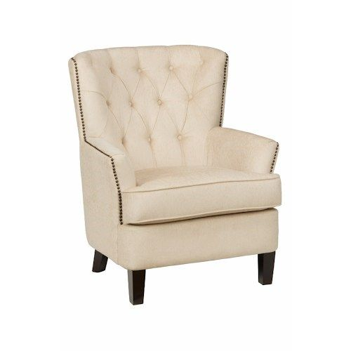 Jofran HUDSON CH Tufted Arm Chair With Small Scale Wingback And Nailhead  Trim