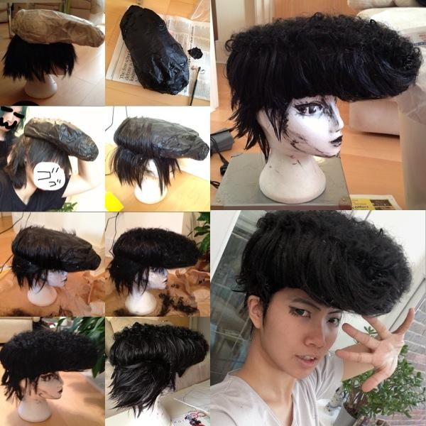 How to style a wig for Space Dandy:A pompadour tutorial ...