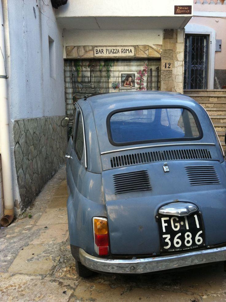 FIAT 500 in the streets of Peschici, Puglia