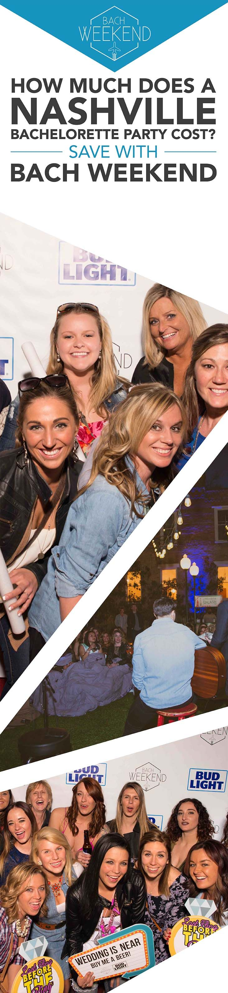 Since Nashville is now a destination city for bachelorette parties, many bridesmaids are planning their fun-filled weekends around Music City attractions. The average spend per person on a bachelorette party can rise to $1000! Don't be discouraged, Bach Weekend is here to the rescue!