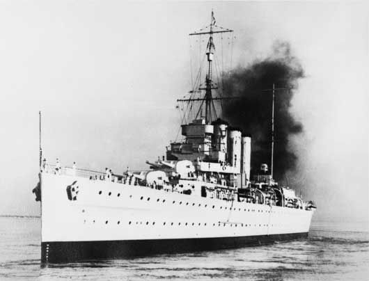The Kent class cruiser HMAS Canberra. Early on 9 August1942, Japanese cruisers entered the channel between Savo Island and Guadalcanal. The Japanese opened fire at 1.43 am and ceased fire about 30 minutes later by which time HMAS Canberra and three American cruisers the Vincennes, Astoria and Quincy had been fatally damaged. The Japanese suffered little damage and the Battle of Guadalcanal would continue.