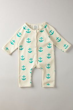 anchor body suit: Kids Outfits, Organizations Cotton, Anchors Baby, My Children, Future Baby, Baby Clothing, Cotton Sleeper, Body Suits, Long Sleeve Rompers