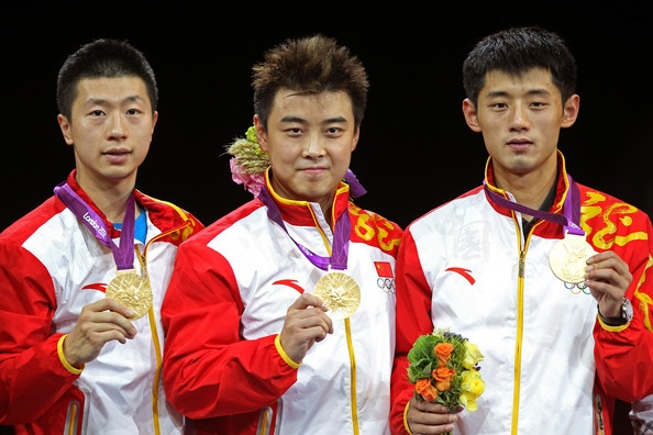 Ma Long and Zhang Jike Photo - Olympics Day 12 - Table Tennis