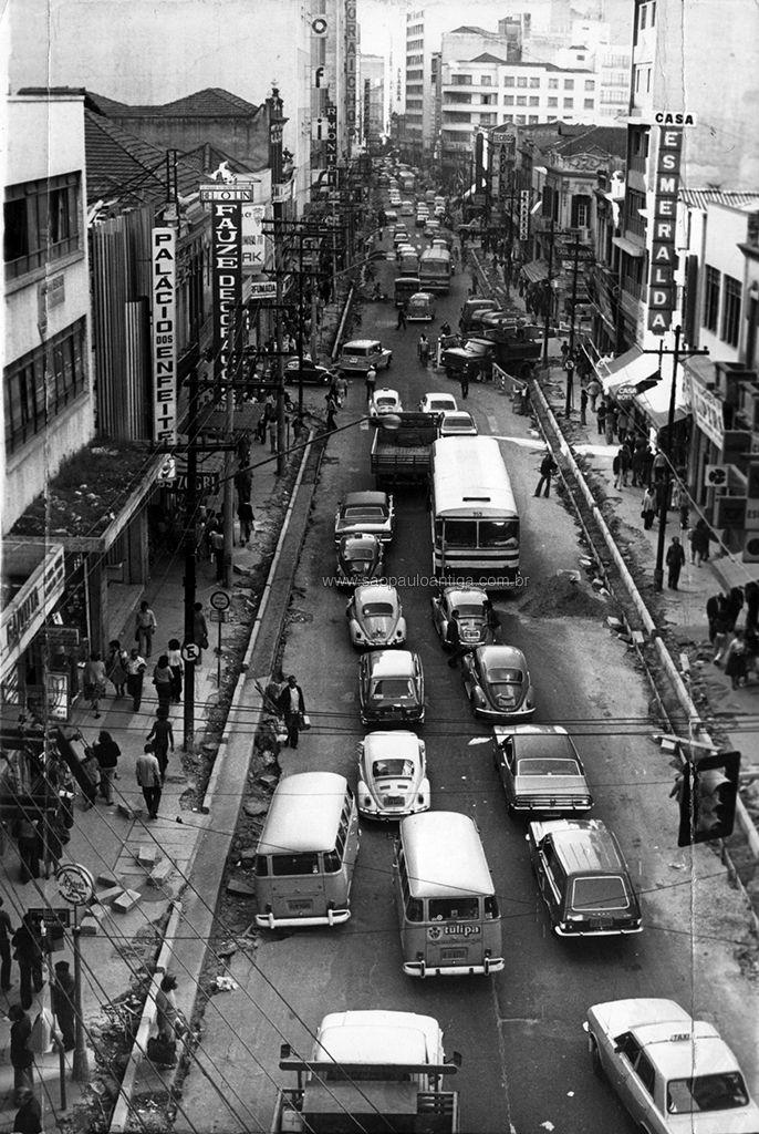 25 de Março street in 1976 - Sao Paulo, Brazil
