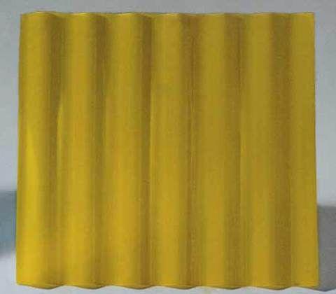 Feita de poliéster e fibra de vidro, a telha ondulada AL 17 (1 m de largura ...