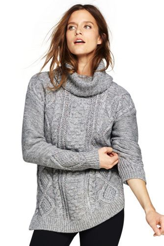 fde035bdfc0f Women's Cozy-Lofty Cable Turtleneck Sweater from Lands' End ...