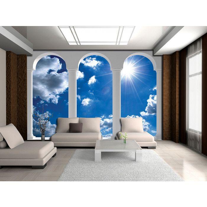 poster mural xxl arches et ciel bleu ensoleille - Poster Mural Grand Format