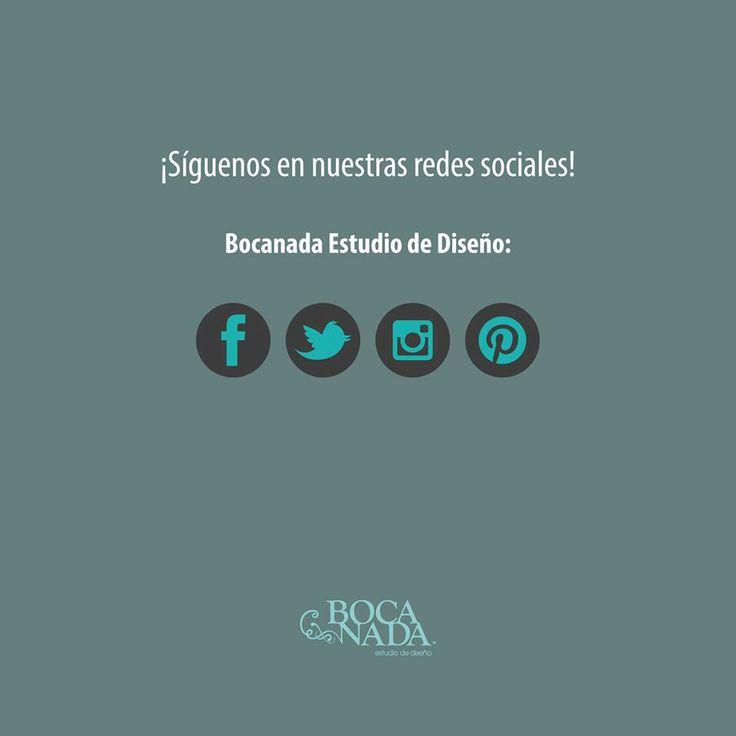 Siguenos en nuestras diferentes redes sociales!!! #bocanadaestudio #diseñomexicano #puebla #oaxaca