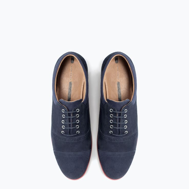 Image 3 of SLIM LEATHER SHOES from Zara