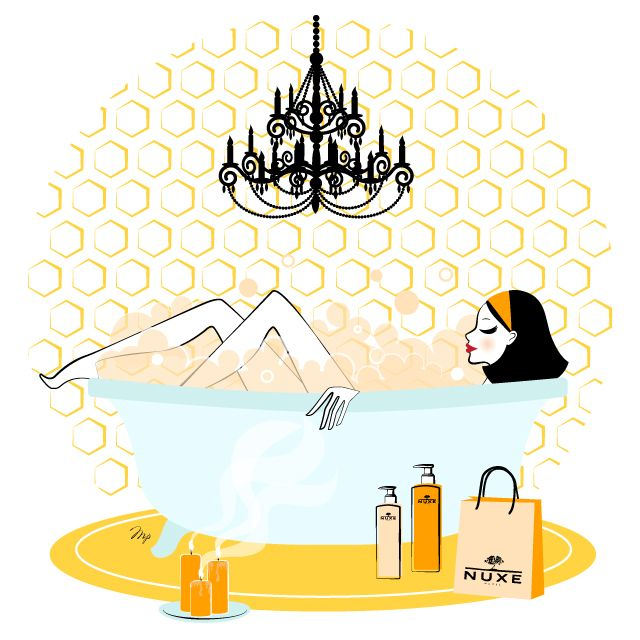 nuxe illustration bath relax